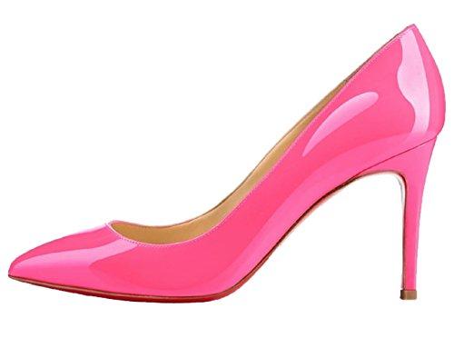 alto Slip Tacón Boda Zapatos tacón Stiletto Mujer Melocotón On Vestir HooH Trabajo de wqIvtn