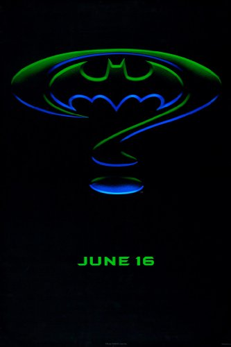 Jim Art Batman Lee (BATMAN FOREVER MOVIE POSTER 1 Sided ORIGINAL Advance 27x40 JIM CARREY)