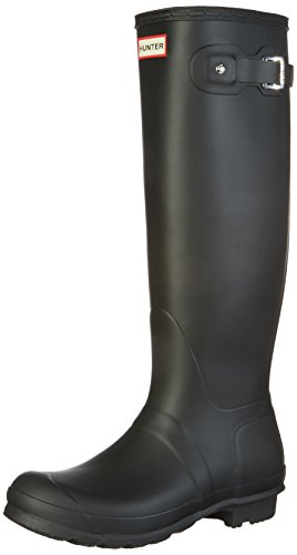 Hunter Women's Original Tall Wellington Boots, Black - 9 B(M) US