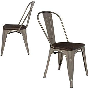 Amazon Com Steampunk Tolix Replica Metal Dining Chairs