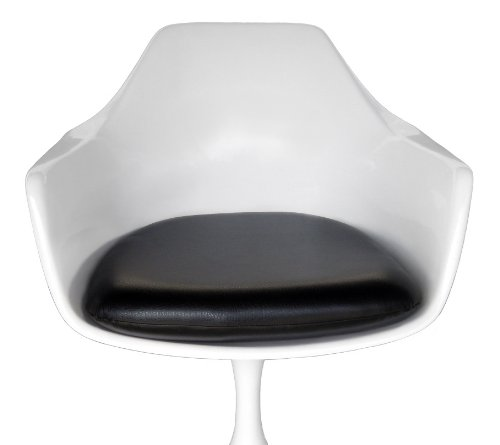 3 Arm Tulip - Premium Black Vinyl Replacement Cushion for Tulip Arm Chair - Saarinen or Burke