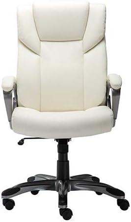 Amazon Basics High-Back Bonded Leather Executive Office Computer Desk Chair