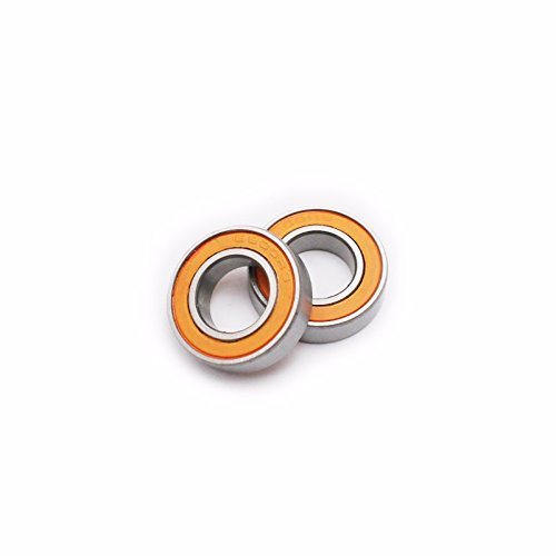 Generic 6800-2RS 10x19x5 mm Rubber Sealed (Orange) Ball Bearing (Pack of 5) by SnowSpitzShop Brand - 6800rs Bearing
