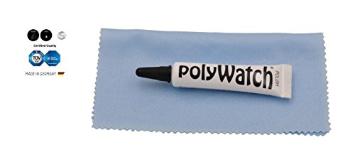 Polywatch Poly Watch Plastic Crystal Glass Polish & Scratch Remover Repair Tool With Yellow - Remover Scratch Glasses