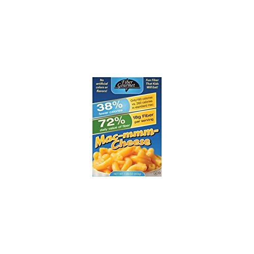 2 Pack Value: FiberGourmet Mac-mmm-Cheese, 14.5 oz., Low Carb Pasta, High Fiber