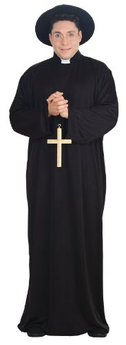 [Priest Full Figure Adult Costume] (Family Themed Fancy Dress Costumes)