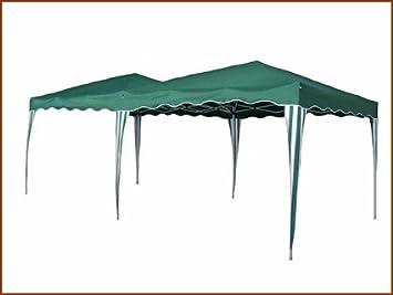 Tente de jardin pliante pergola 3x6m Burdigala toile verte barnum ...