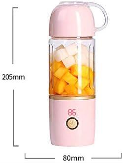 1 pieza exprimidor portátil taza eléctrica batido fabricante USB recargable con 6 cuchillas para batidos y batidos