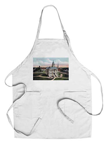 Salem, Oregon - Aerial View of the Court House, Post Office, Capitol Bldg (Cotton/Polyester Chef's Apron)