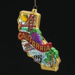 Kurt Adler T0738 California Glass Ornament, 6-1/2-Inch ()