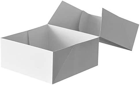 Aluplast Cajas Tarta Blancas cartón (18 x 18 x 5 cm) (50 Unidades ...