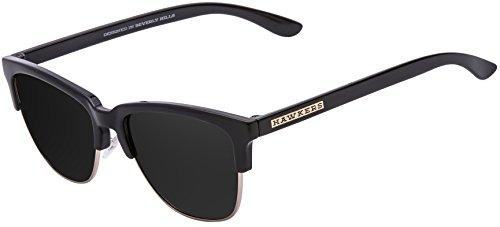 Hawkers Diamond Black Dark Classic, Gafas de Sol Unisex, Negro