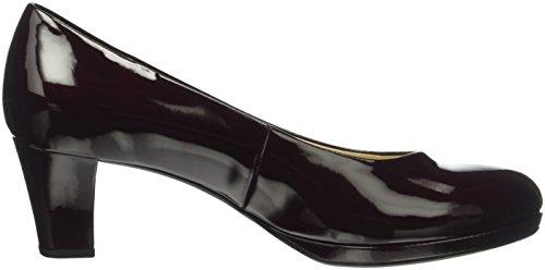 Gabor Shoes Fashion, Sandalias con Plataforma para Mujer Rojo (Merlot/Lfs Natur 71)