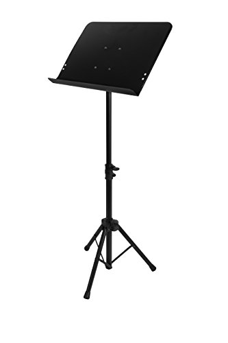 On-Stage SM7211B Professional Grade Folding Orchestral Sheet Music Stand, Black
