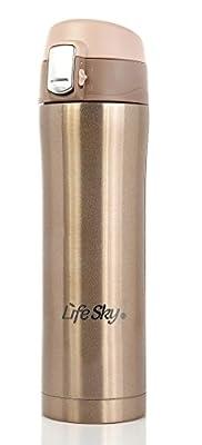 LifeSky Stainless Steel Insulated Travel Coffee Mug