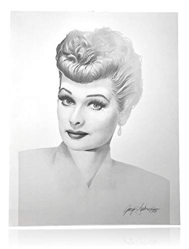LUCILLE BALL 20X24 LITHOGRAPH BY ARTIST GARY SADERUP SIGNED POSTER I LOVE LUCY from Inscriptagraphs