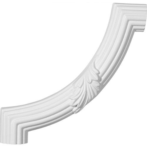 Acanthus Corner - Ekena Millwork PML08X08AC Reeded Acanthus Leaf Panel Molding Corner, 8 7/8-Inch x 8 7/8-Inch