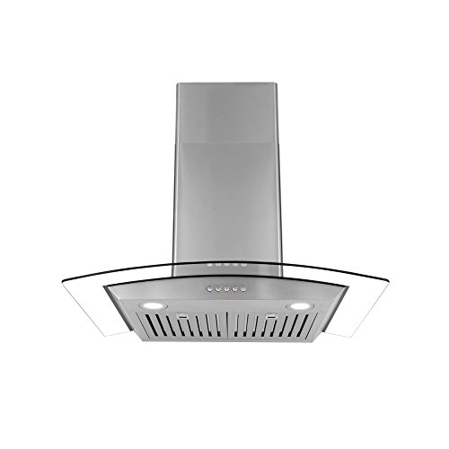 Cosmo COS-668WRC75 760 CFM, 30 inches Ducted Wall Mount Range Hood in Stainless Steel with Push Button Controls, LED Lighting and Permanent Filters (Stainless Range Steel Professional)