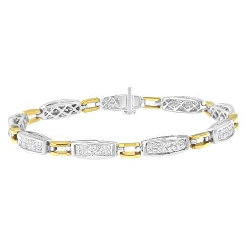 (Original Classics 14K Two-Tone Gold 2 ct TDW Diamond Link Bracelet (H-I,)