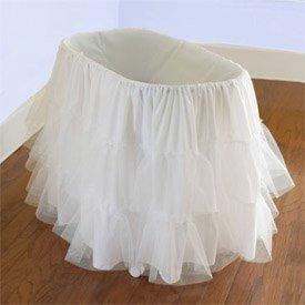 "Babydoll Bedding Bassinet Petticoat, 13"" x 29"""