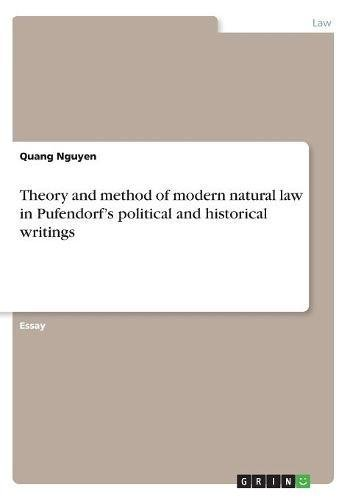 Download Theory and Method of Modern Natural Law in Pufendorf's Political and Historical Writings pdf epub