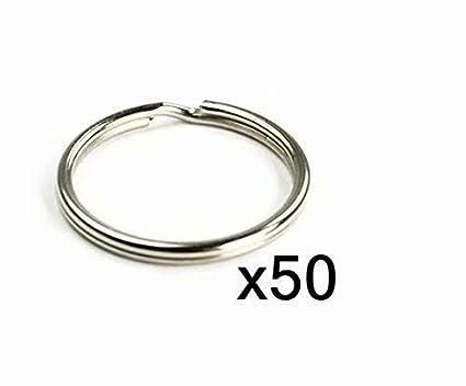 Linsung Keys Cut Pack De 50 Anneaux En Nickel Pour Porte Clés 20