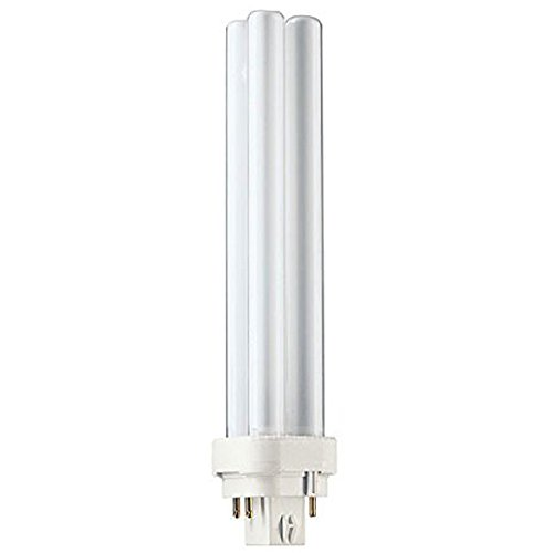 - Globe Electric 84450 13-watt Enersaver Double Tube 2 x T4 CFL Light Bulb, 4 Pin Base, Cool White