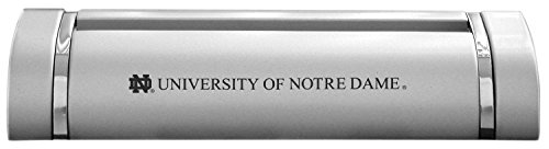 University of Notre Dame-Desk Business Card Holder -Silver (Notre Dame Tables)