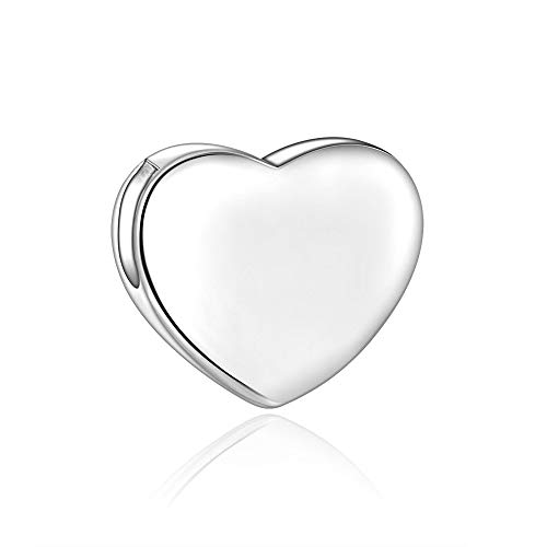 Candyfancy 925 Sterling Silver Heart Pendant for Women (Symbol Heart Pendant) 925 Sterling Silver Heart Pendant