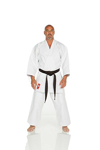 Ronin Brand Shiai Red label Brushed 14oz. Japanese Cut Karate Gi (5.5) (Karate Gi Women)