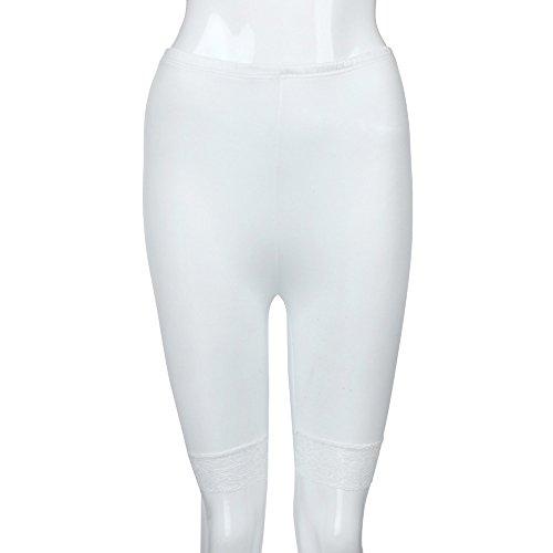 Slim BZLine Femmes Bianco Pantalon Donna Pantaloni tnYpfq