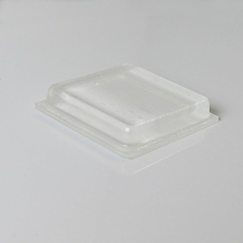 Rubber Bumpers Self Adhesive Large - 60 Pack - Rubber Pads for Cutting Board Feet - 1 Inch Square Clear Rubber Bumper Pads
