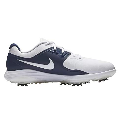 Nike Vapor Pro Golf Shoes 2019 White/Metallic White/Midnight Navy/Volt Wide 13 (Best Mens Golf Shoes 2019)