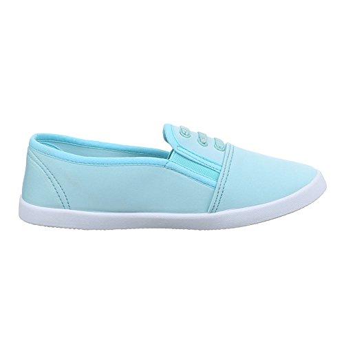 Ital-Design , Chaussures pour les loisirs femme Bleu - Bleu Clair