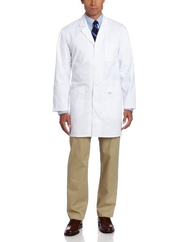 Dickies 37 Inch Unisex iPad Lab Coat, White, Large ()