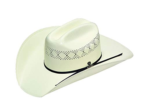 Ariat Men's Double S 10X Straw Cowboy Hat, Natural, 7 -