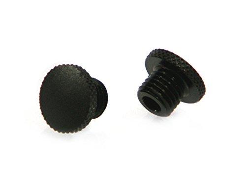 Negro Manillar Espejos de Motocicleta /& M8 Tapones Ciegos de 22mm 7//8 Manillar Lado Derecho Rosca Inversa