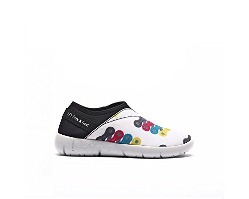 UIN Kid's Colorful Chain Canvas Comfort Loafer Shoe White (Big Kid) mXOk8jvRUD