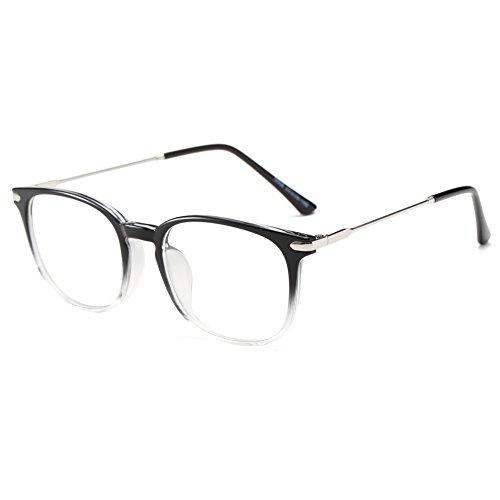 Simvey Classic Computer Blue Light Blocking Glasses TR90 Frame Gaming Glasses Unisex - Measurement Bridge Glasses