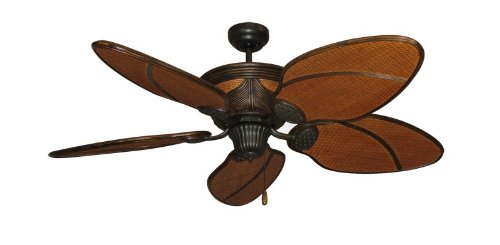 ceiling fan blades wicker - 4