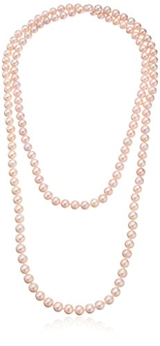 Pink-Freshwater-Cultured-Pearl-Necklace