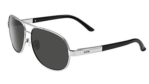 Bolle Linwood Sunglasses Shiny Silver Frame Grey Lenses