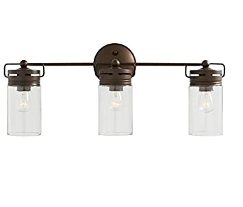 Amazon.com: allen + roth 3-Light Vallymede Aged Bronze Bathroom ...