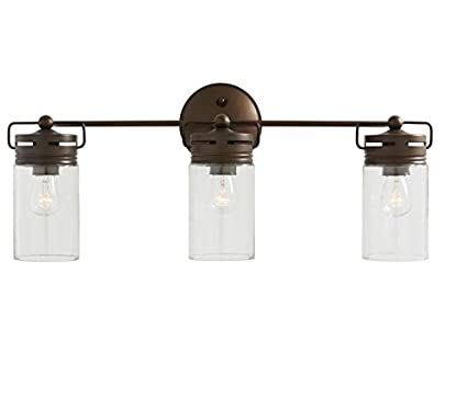 Amazoncom Allen Roth 3 Light Vallymede Aged Bronze Bathroom