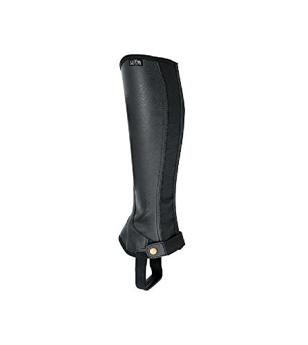 Saxon Women's Equileather Half Chaps Boots, Black, Small ()
