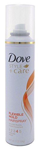 Hair Hold Spray Flexible (Dove Style + Care Flexible Hold Hairspray, Strong Hold 7 oz (Pack of 2))