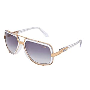 Cazal Sunglasses 656 Col. 065 Clear Gold Frame Grey Lens