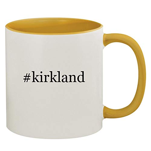 #kirkland - 11oz Hashtag Ceramic Colored Inside & Handle Coffee Mug, Golden Yellow