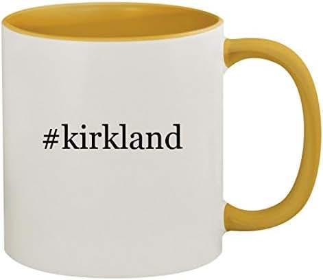 #kirkland - 11oz Hashtag Ceramic Colored Inside & Handle Coffee Mug, Golden Yellow