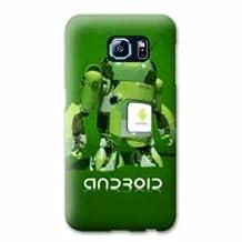 Case Samsung Galaxy S6 EDGE apple vs android - robot B